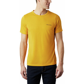 Columbia Maxtrail Logo Short Sleeve Tee Men bright gold